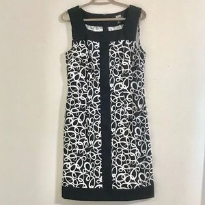 Connected Apparel black & white dress - size 10